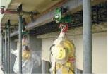 ●ホイスト施工<br /> 軽量なためホイストによる材料の引き上げが可能で、取付もできます。
